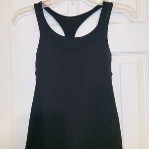 REPOSH. Lululemon black Top w/attached sports bra